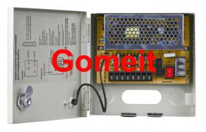 China 4 Channel CCTV Camera Power Supply Box , Security CCTV Power Supply 12v 5amp Long Service Life on sale