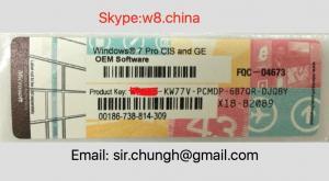 Wholesale Original Windows 7 Pro OEM coa Product Key label