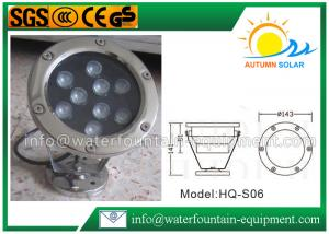 China Stainless Steel Inground Pool Lights Waterproof IP68 6W RGB Color Control on sale