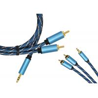 China 3.5/2 RCA Gold Plated Extension Cable on sale