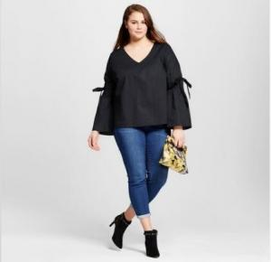 China Bell Sleeve Plus Size Womens Clothing Blouse Tops For Spring / Autumn / Summer on sale