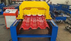China 2 - 4 m / Min 6.5T Steel Glazed Tile Roll Forming Machine 10 Years Life Time on sale