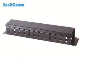 China 12 Port Rack Mounted Cable Management Cold Rolled Steel With Powder Coat Finishing on sale
