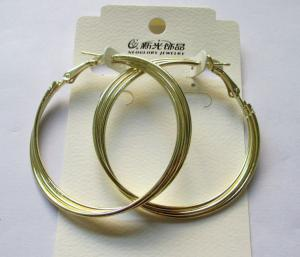 China Wholesale Fashion gold finished hoop earring on sale
