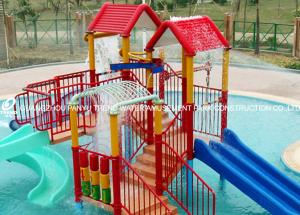 China Swimming Pool Equipment Playhouse for Kids with Small Fiberglass Water Slide on sale