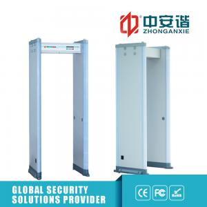 China 455 Sensitivity Portable Door Frame Metal Detector 6 Zones 30W With LED Battery on sale