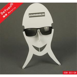 China Supermarket New Stylish Sunglass Holder For Car Cheap Case White Color on sale