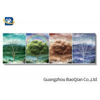 3d Flip Effect Picture With Frame Wall Hanging Of Four Season Tree / Beautiful Flower