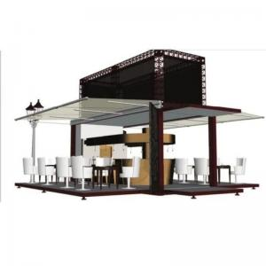 China 2 Story Modular Tiny House Steel Prefab Shipping Container Coffee Shop Cafe Bar on sale