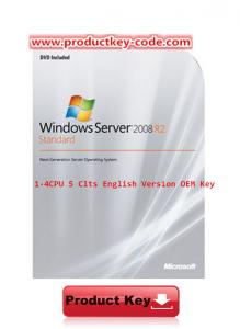 China Original Windows Server 2008 R2 Standard 1-4 CPU 5 Clts English Version OEM Key on sale