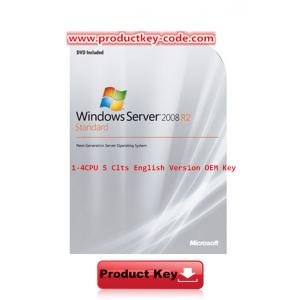 China Original Windows Server 2008 R2 Standard 1-4 CPU 5 Clts English Version OEM Key on sale