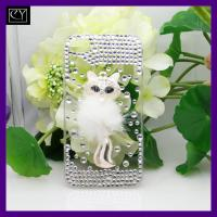 China with best quality bling jewelry plastic material protective cell phone cover on sale