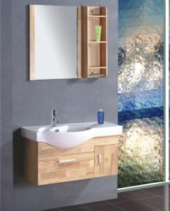 China Single ceramic sink thin bathroom vanity , contemporary bathroom vanity cabinets colors available on sale