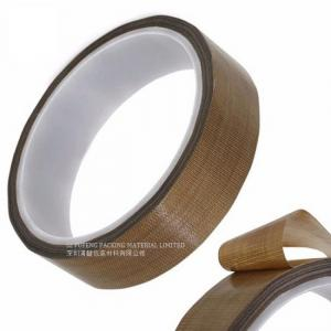 China Masking Sealing PTFE Glass Cloth Tape 0.08MM Thickness High Temperature Resistant on sale