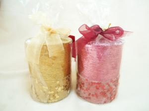 China Gold, Red Glitter Christmas Scented Candles for Parties on sale