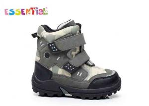 China Black Army Camo Boys Winter Snow Boots PU And Nylon Upper TPR Outsole on sale