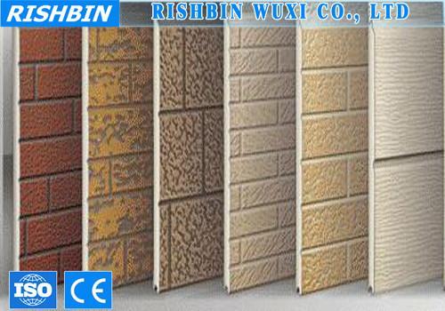 Sandwich Panel Cladding : Wall cladding external pu sandwich panel roll forming