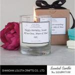 Clean Burning Scented Jar Candle , Apple Cinnamon / Rose Scented Candles