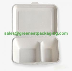 Quality Disposable Bagasse Sugarcane Lunch Box/Hamburger Box/Hot dog Box for sale