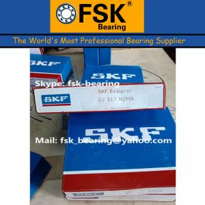 China Air Compressor Bearings SKF QJ317N2MA Four Point Angular Contact Ball Bearing on sale