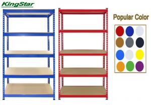 China 200Kg Capacity Bolt Free Shelving Systems , Living Room Shelving Units 5 Tier on sale