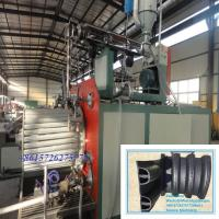 China Hollow wall plastic PE enhance spiral pipe extrusion line, HDPE PE pipe extruder on sale