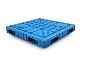 China 48 x40  NEW products Blow moulding Double reusable plastic pallets with static loading 6000kg used for cooler room on sale
