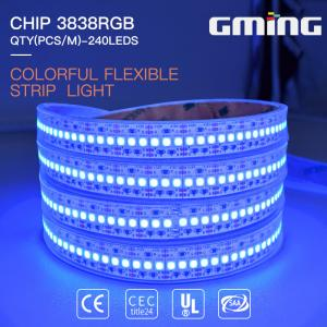 China 3Oz PCB 463nm 240les/m 24W SMD RGB LED Strip Light on sale