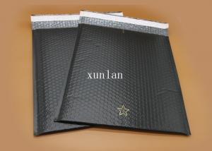 China No Fading Flat Poly Bubble Mailers , No Permeation Black Bubble Mailers on sale