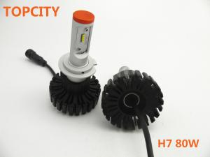 China Latest led headlight headlamp 4800LM H7 80W  automotive led headlight on sale