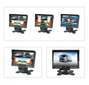 China 7 inch TFT LCD car backup monitor car quad monitor 4 channel truck monitor reversing monitor on sale