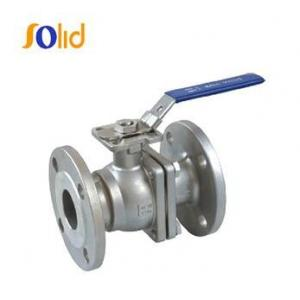 China Stainless Steel / cf8m /CS 2 Piece Flanged End Ball Valve on sale
