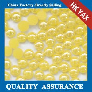 China F0409 ceramic pearl,rhinestone,hotfix appliques on sale