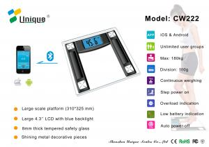 China CW222B bathroom scale analog with Bluetooth Connection on sale