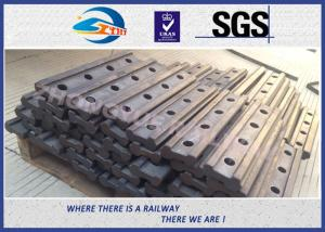 Quality 4 Holes BS80A Railway Fish Plate Rail Joint Bars steel fish plates With Plain Colors for sale