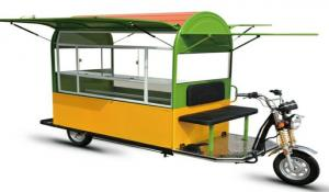 China Large Capacity Electric Food Truck / Cart With Battery Operated on sale