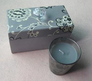 China Luxury Hard Paper Gift Packaging Boxes with Crystal Knob For Candle Gift Set TS-PB036 on sale