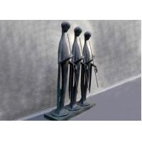 Music City Abstract Figure Bronze Sculpture Outdoor Three People For Museum