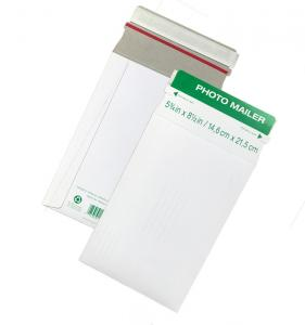 China Custom Printing Rigid Cardboard Envelopes Stay Flat Document Mailing Type on sale