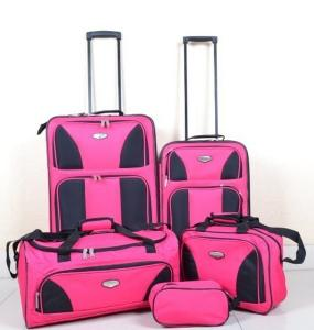 China Promotion price 5 PCS trolley luggage set/travel luggage on sale