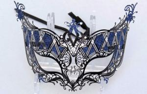 China Christmas Venetian Masks , Female Filigree Masquerade Ball Masks on sale