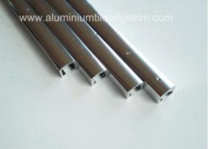 China Narrow Aluminium Channel Profiles Finishing Edge Anodized Polished Silver Effect on sale