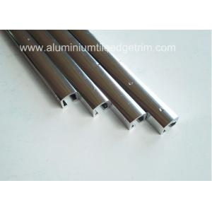 China Narrow Aluminium Channel Profiles Finishing Edge Anodized Polished Silver Effect on sale