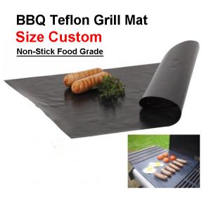 China PTFE Non-stick Surface Fireproof BBQ Cooking Grill Mat 33x40cm on sale