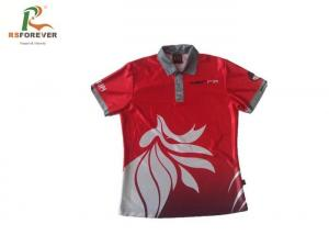 China Dye Sublimated Printed Polo Shirts For Mens Polyester Team Uniform Tops on sale