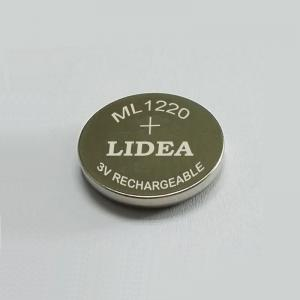 China ML1220 Lithium rechargeable button cell on sale
