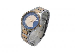 China Side Wrapped Band Stainless Steel Ladies Watch Water Resistant IP Two Tone Plating on sale