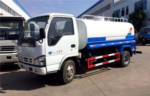 China ISUZU EURO 4 120HP Water Bowser Truck Q235 Carbon Steel 5000 Liters on sale