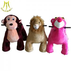 China Hansel wholesale outdoor plush electronic kid ride on animals for game center on sale