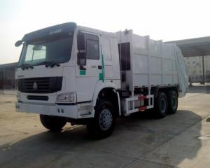 China 6x4 371hp 16CBM 18CBM Special Purpose Vehicle Rear Loading Compactor Garbage Truck With 1.2cbm Rubbish Bin on sale